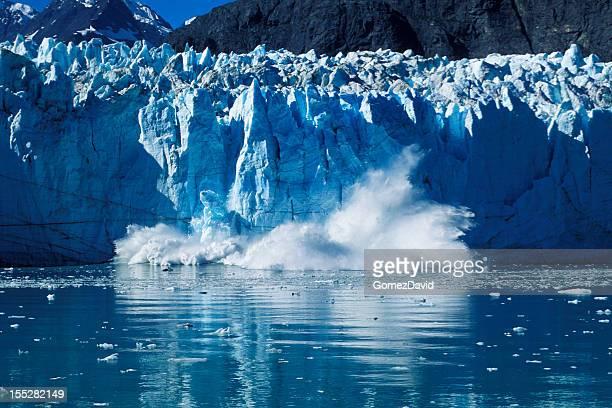 Glacier Calving into Alaskan Bay