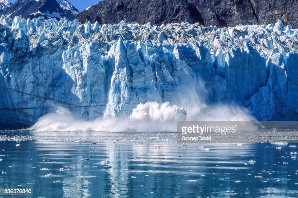 Glacier Calving into Glacier Bay National Park