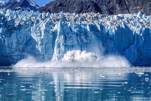 Glacier Calving into Glacier Bay National Park 836377430