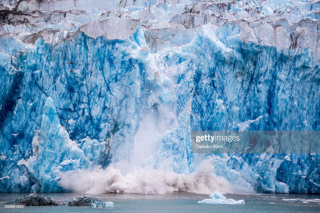 Glacier Calving : Stock Photo