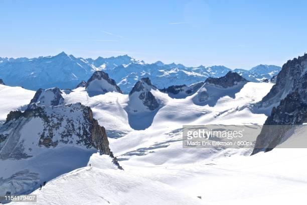 glacier du géant, chamonix - valle blanche fotografías e imágenes de stock