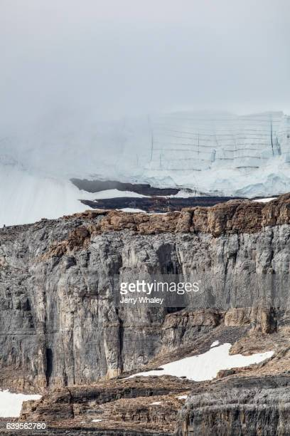 Glacier Edge on top of Vertical Cliff