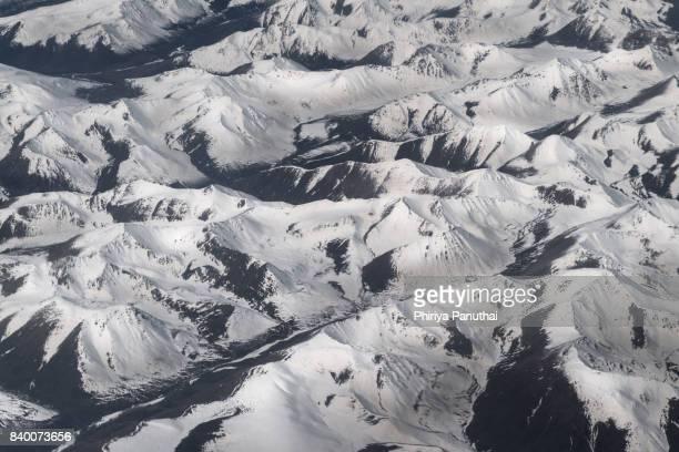 glacier from plane