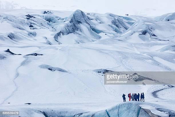 Glacier Hikers at Mýrdalsjökull