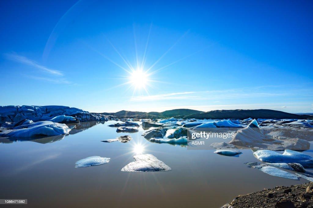 Glacier Iceland in winter : Stock Photo