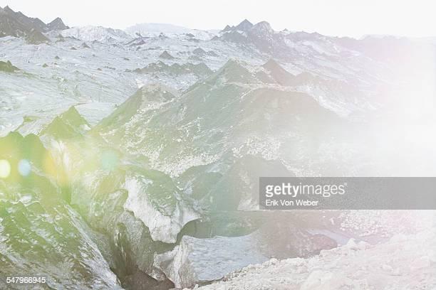 glacier in iceland - iceberg formazione di ghiaccio foto e immagini stock