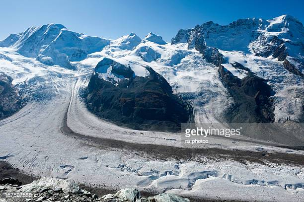 A glacier in the beautiful Swiss alps