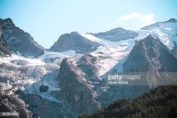Glacier in the French Alps near la Meije