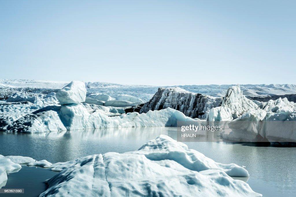 Glacier lagoon in Greenland. : Stock Photo