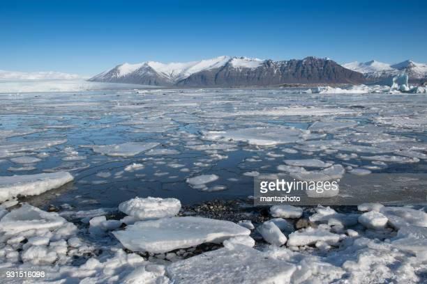 glacier lagoon - glacier stock pictures, royalty-free photos & images