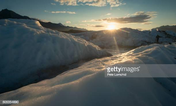 glacier matanuska sunset - alaska us state stock pictures, royalty-free photos & images
