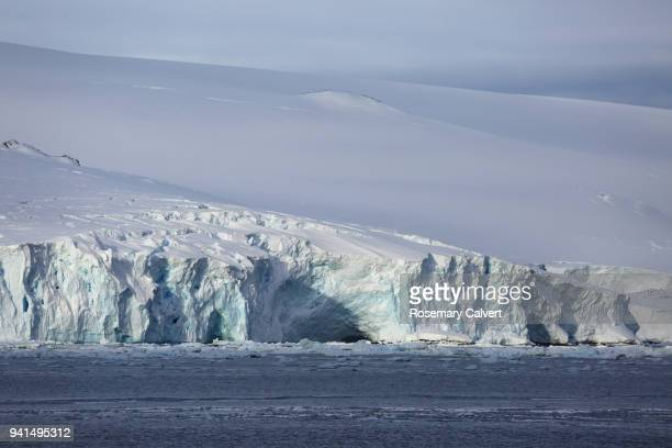 Glacier meets the sea, Antarctic Sound, Antarctica.