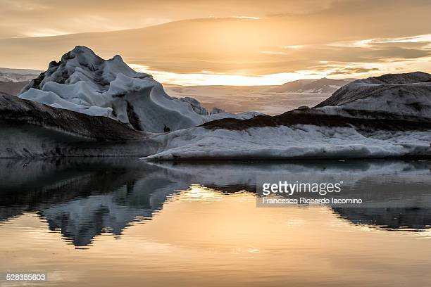 Glacier mirroring