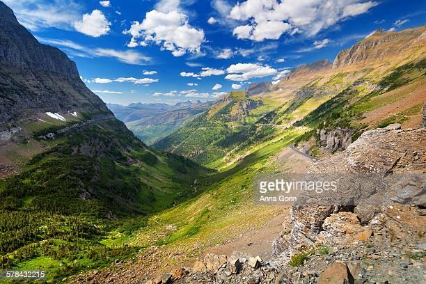 Glacier National Park vista from Highline Trail