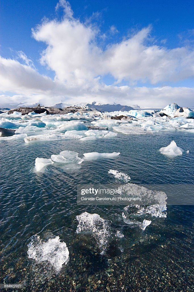 Glacier on the rocks : Stock Photo