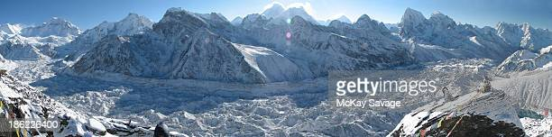 Glacier Panorama of the Mt Everest Region of Nepal