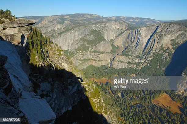 Glacier Point Northwest View at Sunrise Overhanging Rock Yosemite Valley Yosemite Falls Watercourse Yosemite Point Yosemite National Park