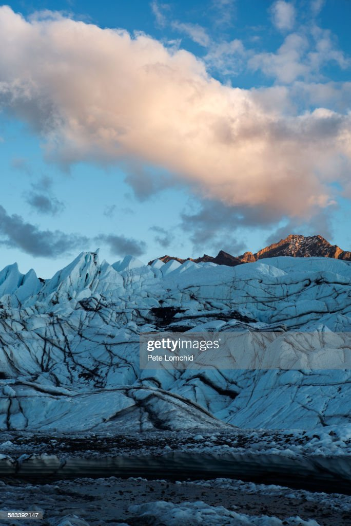 Glacier sunset : Stock Photo