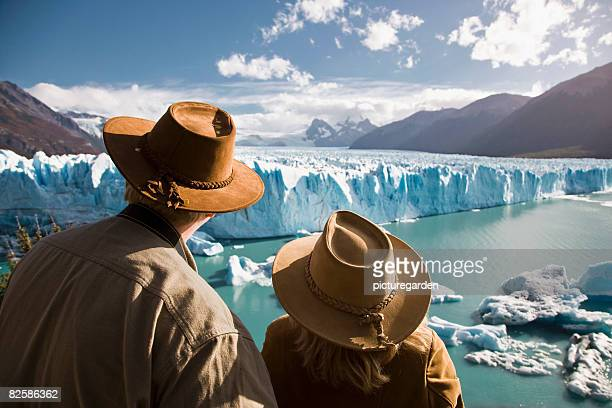 glacier watch - argentina traditional clothing stock photos and pictures