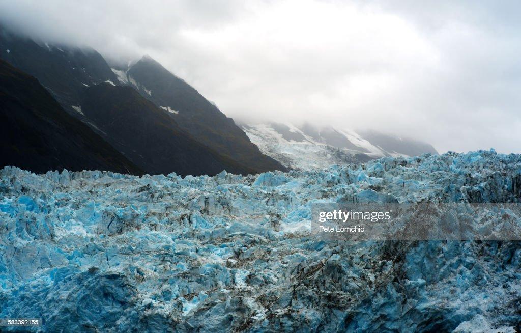 Glacier with mountain : Stock Photo