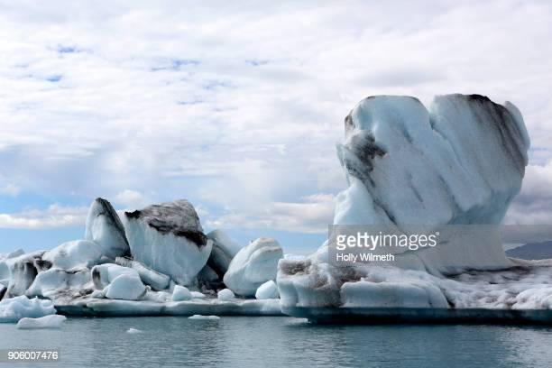 Glaciers in lagoon