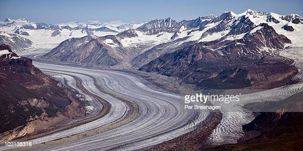 Glaciers meet in Wrangell-St.Elias, AK