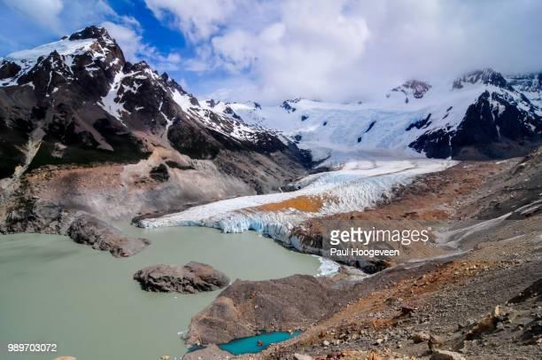 glaciers near el chalten - hoogeveen stock pictures, royalty-free photos & images