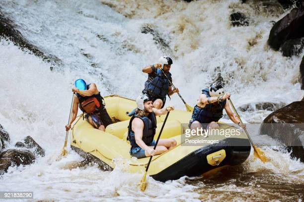 glad we made through that - whitewater rafting stock pictures, royalty-free photos & images