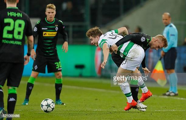 Gladbach Germany Champions League Gruppe C 4 Spieltag Borussia Moenchengladbach Celtic Glasgow Zweikampf James Forrest gegen Oscar Wendt