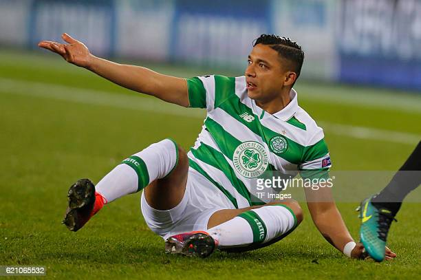 Gladbach, Germany , Champions League Gruppe C, 4. Spieltag, Borussia Moenchengladbach - Celtic Glasgow, Emilio Izaguirre gestikuliert.