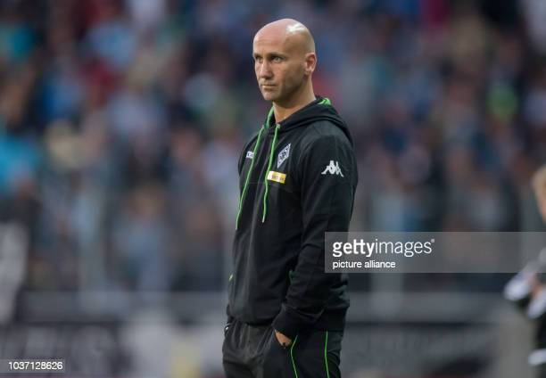 Gladbach's coach Andre Schubert during the friendly soccer match between Chemnitzer FCand Borussia Moenchengladbach at community4you-Arena in...