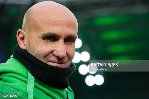 Gladbach's head coach Andre Schubert pictured during the German Bundesliga football match between 1. FC Cologne and FC Augsburg at the...