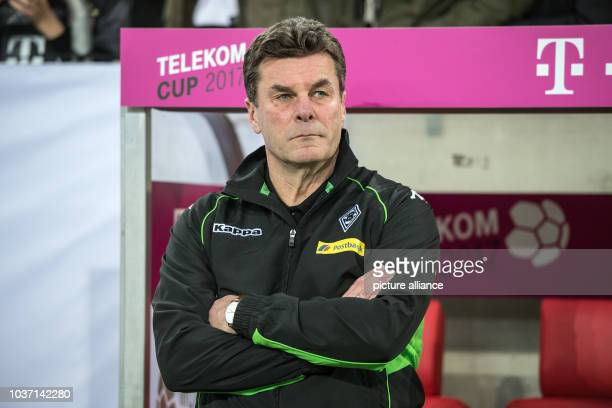 Gladbach's trainer Dieter Hecking during the Telekom Cup soccer match between Borussia Moenchengldbach and FSV Mainz 05 in the ESPRITarena in...