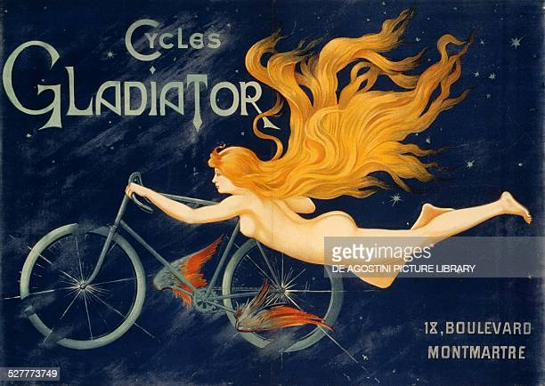 Gladiator bicycles ca 1905 advertising poster Paris France 20th century Paris Musée De La Publicité