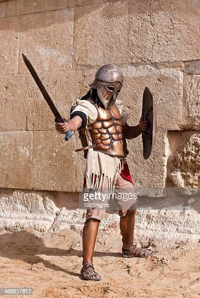 Gladiator in the arena - Jerash, Jordan