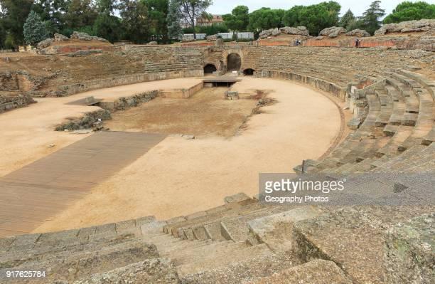 Gladiatorial arena of Circa Romano hippodrome Merida Extremadura Spain