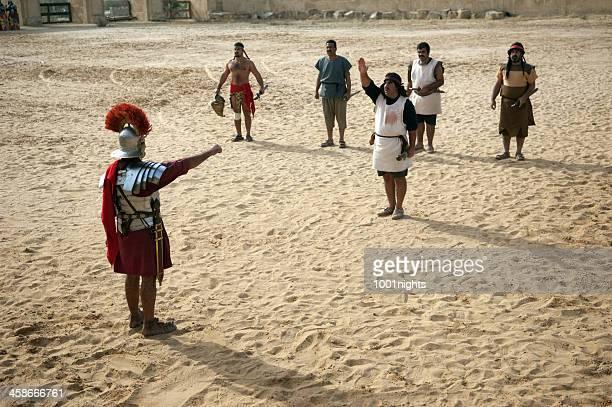 Gladiators nell'arena-Jerash, Giordania