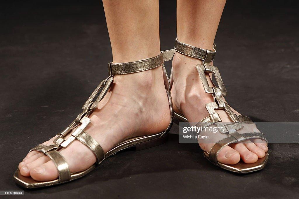 Gladiator-style sandals by Slavador Sapena, $360. (Fernando : News Photo