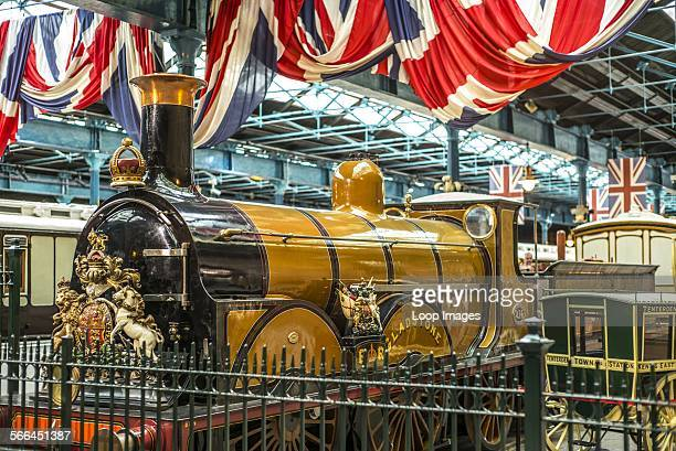 Gladstone locomotive on display at the National Railway Museum in York