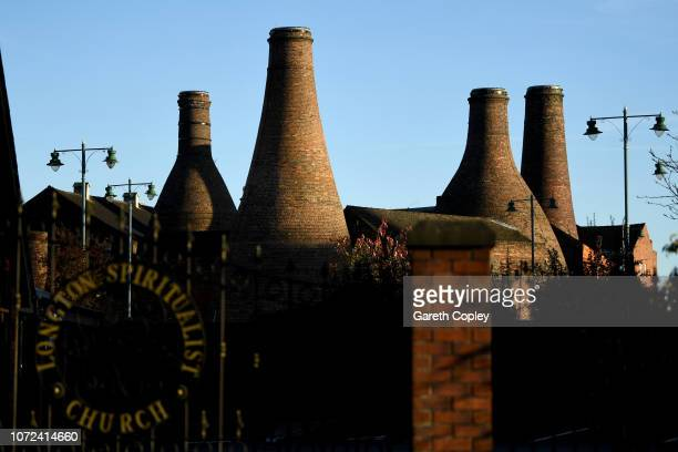 Gladstone Pottery Longton on October 25 2017 in Stoke on Trent England The Gladstone works opened as The Gladstone Pottery Museum in 1974 the...