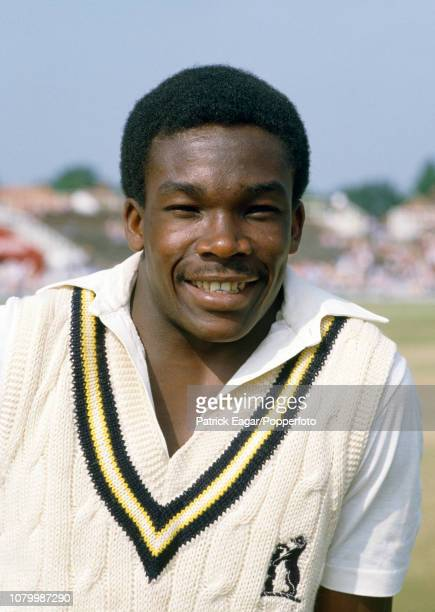 Gladstone Small of Warwickshire before the Benson and Hedges Cup Semi Final between Yorkshire and Warwickshire at Headingley Leeds 20th June 1984