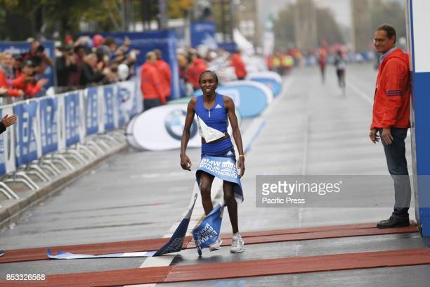 Gladys Cherono from Kenya won the women Berlin Marathon Gladys Cherono ran 22023 hours Eliud Kipchoge ran the 42195 kilometers in 20334 hours