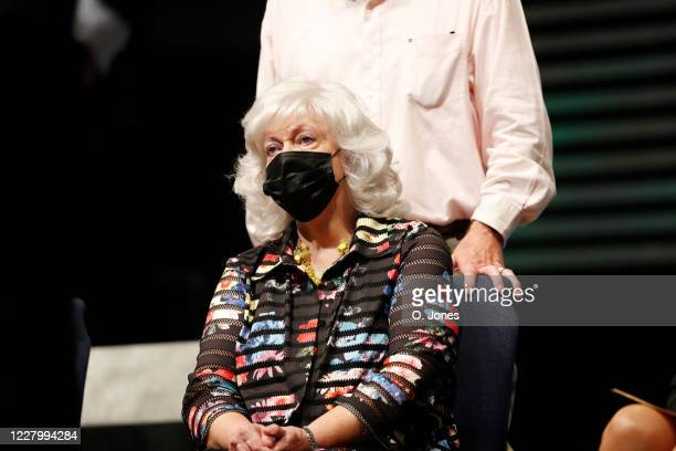 Gladys Cross the exwife of Don Lewis looks on during a news conference at Riverhills Church of God on August 10 2020 in Tampa Florida The surviving...