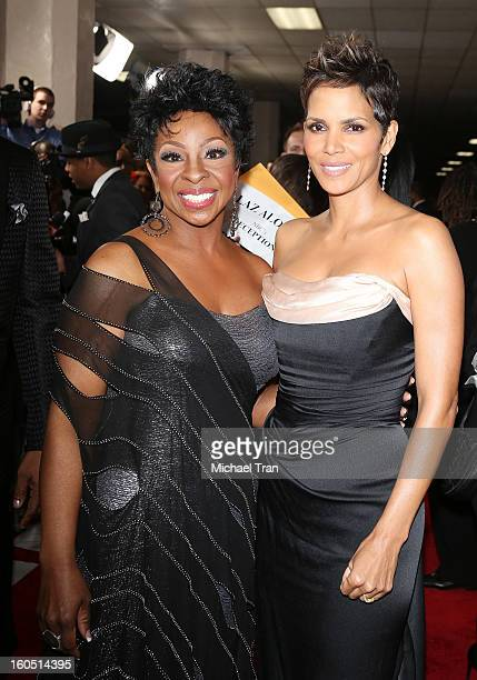 Gladys Knight and Halle Berry arrive at the 44th NAACP Image Awards held at The Shrine Auditorium on February 1 2013 in Los Angeles California