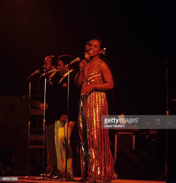 Gladys Knight and the Pips perform on stage in Bournemouth England in April 1982