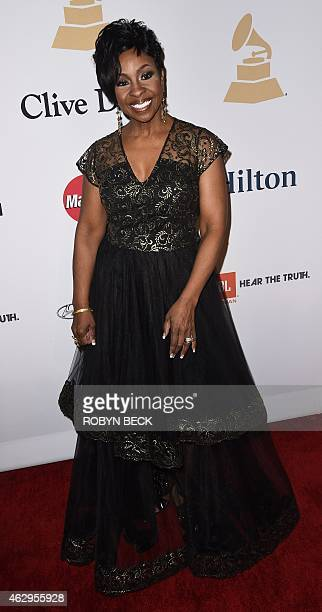 Gladys Knight arrives for the Clive Davis The Recording Academy's 2015 PreGrammy Gala in Beverly Hills California February 7 2015 AFP PHOTO/ROBYN BECK