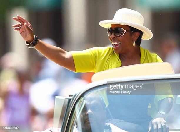 Gladys Knight attends the IPL 500 Festival Parade on May 26 2012 in Indianapolis Indiana