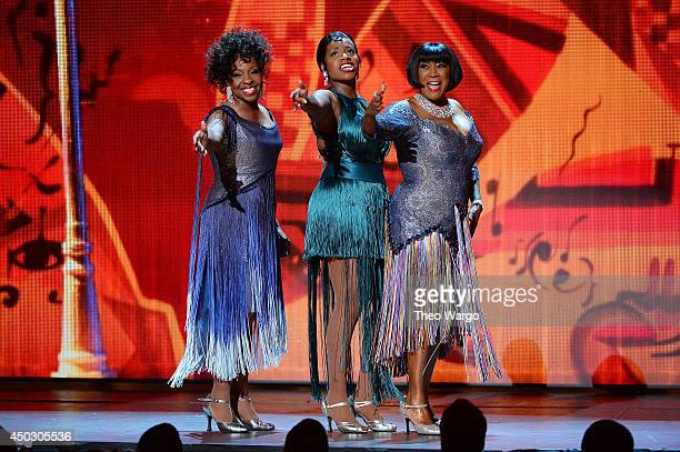 Gladys Knight Fantasia Barrino and Patti Labelle perform onstage during the 68th Annual Tony Awards at Radio City Music Hall on June 8 2014 in New...