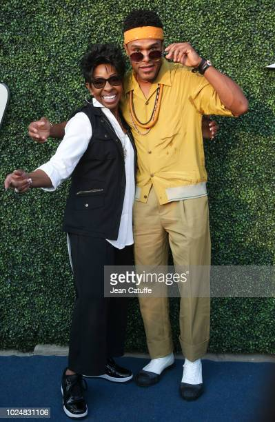 Gladys Knight, Maxwell attend the opening night gala of the 2018 tennis US Open held at Arthur Ashe stadium of the USTA Billie Jean King National...