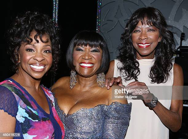 Gladys Knight Patti Labelle and Natalie Cole backstage after her debut in 'After Midnight' at the Brooks Atkinson Theatre on June 10 2014 in New York...